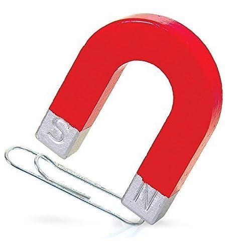 Horseshoe Magnet Amusant Enfants Science école Rouge Magnet Cadeaux Pour