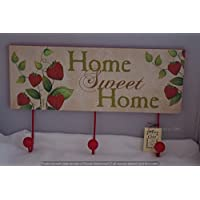 Coat Robe Hook Rack Strawberry Strawberries Home Sweet Home Coat Hooks SG1294