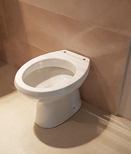 Sanitari water wc vaso a terra scarico a pavimento,ceramica bianca, mod. Easil
