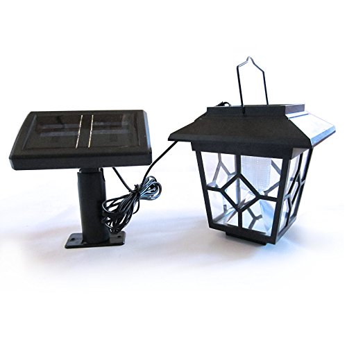 Solar Laterne mit LED-Lampe und externem Solarmodul für Garten-Haus