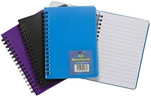 Tiger A6 twinwire plastic cover feint ruled notebook x 1 single