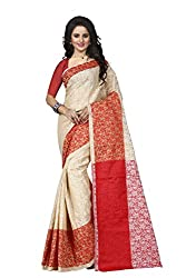 Trendz Womens Cotton Silk Saree(TZ_Padmavati_Red_Red_Free Size)