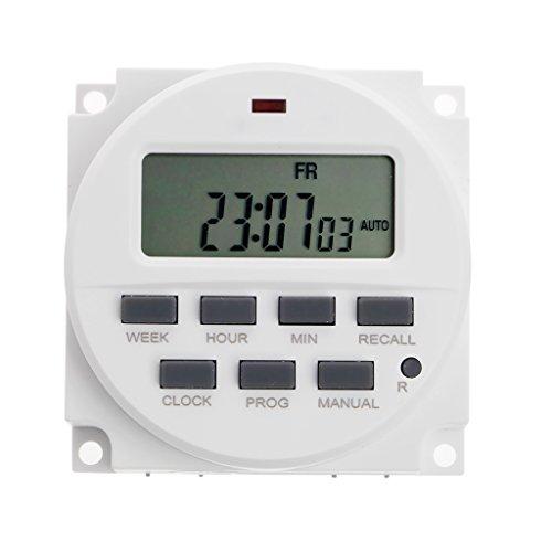 12 Stunden Elektronischer Timer (Cuigu Digital Timer, 15.98 Zoll LCD Digital Timer 12V DC 7 Tage Programmierbare Zeitschaltuhr TM618N-4)