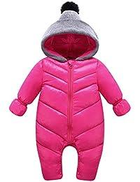 Kasen Ropa de Una Pieza Prenda Exterior Chaqueta de Cremallera con Capucha Enterizo Jumpsuit para Invierno Bebés Niños Niñas