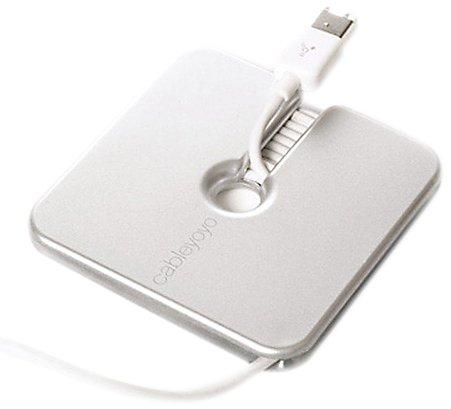 Bluelounge Cableyoyo avvolgicavo per portatile e Apple iPod/iPhone, colore: Argento