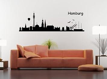 Wandtattoo Skyline Hamburg Amazonde Kche Haushalt