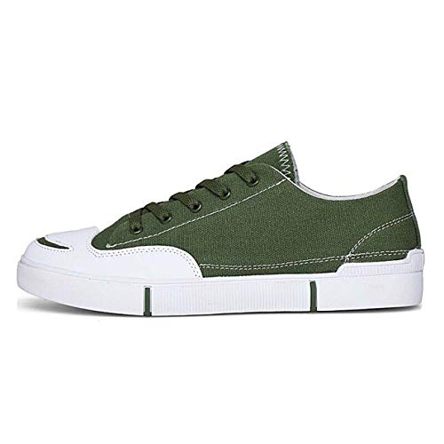 Classic Men's Lace Up Canvas Athletic Sneakers Leisure Fashion Shoes Size 6-10 Green US9\u002F9.5 -