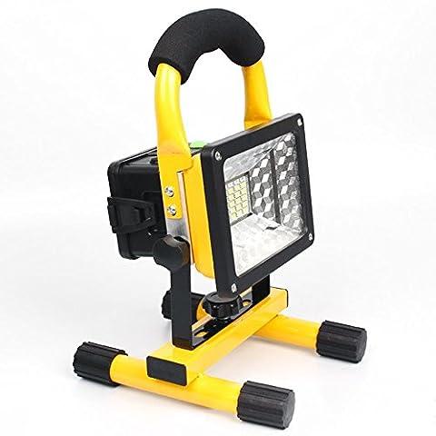 Emergency Spotlight, EONANT 30W 24 LED Lumière D'inondation Rechargeable avec Lampe à Main Portable à 360 ° pour éclairage Camping Extérieur