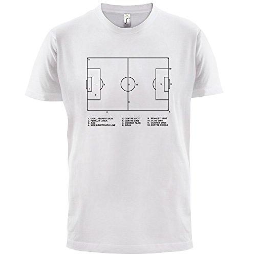 Fussballplatz Diagramm - Herren T-Shirt - 13 Farben Weiß