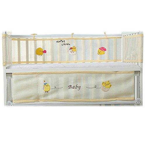 babynice Bett-Drehung Baumwolle Umgibt Sommer Baby 3D einem de Baby Decke Schutz