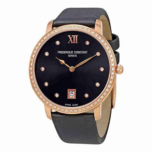 Frederique Constant Slimline Reloj de Mujer Diamante Cuarzo 37mm FC-220G4SD34