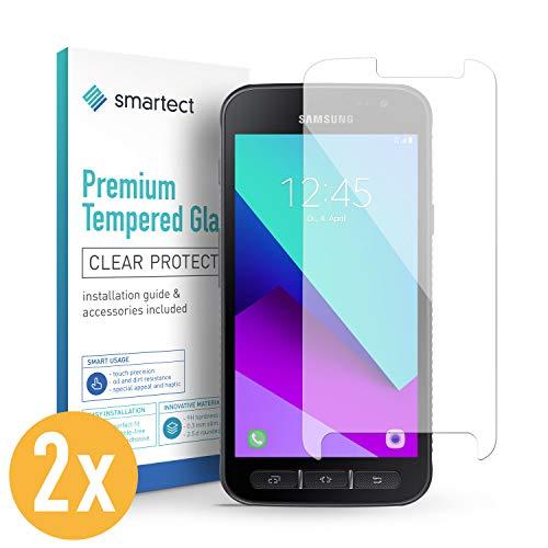 smartect Panzerglas für Samsung Galaxy Xcover 4s / 4 [2 Stück] - Displayschutz mit 9H Härte - Blasenfreie Schutzfolie - Anti Fingerprint Panzerglasfolie