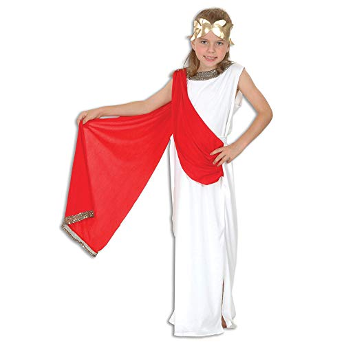 Goddess Large costume Kids Fancy - Red Toga Kostüm