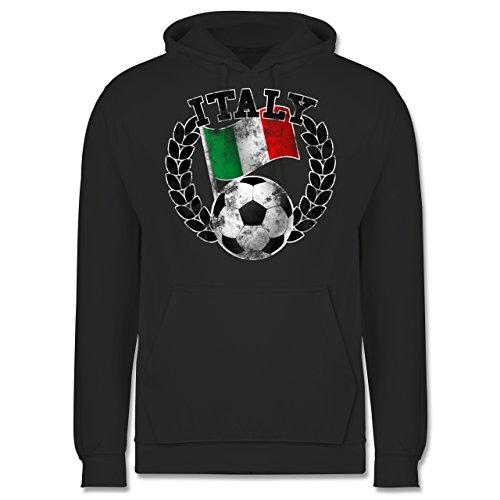 EM 2016 - Frankreich - Italy Flagge & Fußball Vintage - Männer Premium  Kapuzenpullover / Hoodie