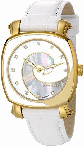 Pierre Cardin Damen-Armbanduhr Fresque Analog Quarz Leder Swiss Made