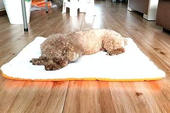 Maison BOBO Coussin pour Chien Epais Lit de Chien Lavable Matelas Chien Grande Taille Tapis de Chien Chat Confortable pour Niche Voiture(Marron,S)