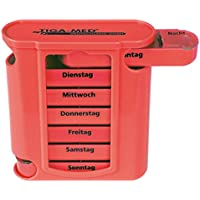 Medikamentendosierer Pillenbox rot 1 Stück Pillendose Tablettenbox Medi - Arznei- Medikamentenspender 7 Tage Original... preisvergleich bei billige-tabletten.eu