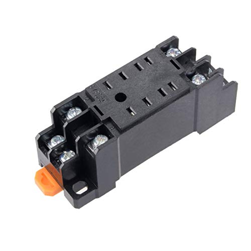 ZCHXD 8 Terminals Rail Mounted Power Relay Socket Base -