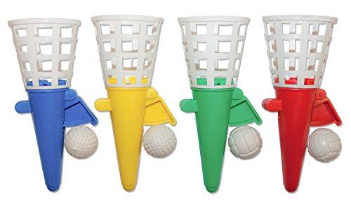 12 x Fangballspiele Fangballspiel Fangbecher 12 cm Geschicklichkeitsspiel