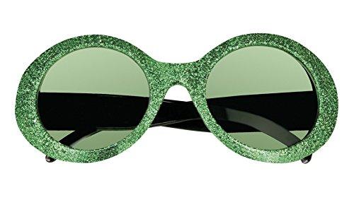 erdbeerloft - Oversize Flower Hippie Brille Sonnenbrille Kostüm, Grün (Einfach Unwiderstehlich Halloween Kostüm)