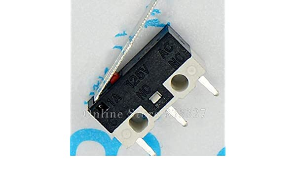 50PCS Touch Mouse switch tripod 2A125V AC rectangular switches Miniature Micro