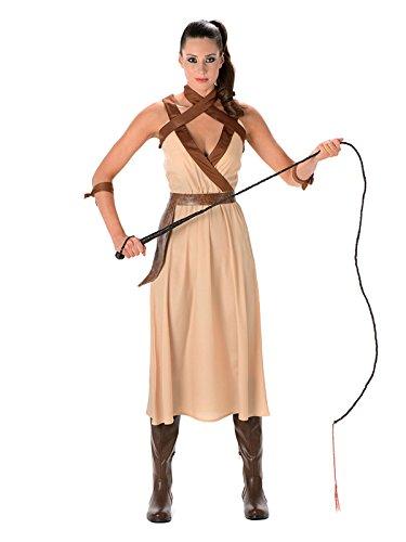Generique - Wüsten-Kriegerin Kostüm für Damen beige-braun L