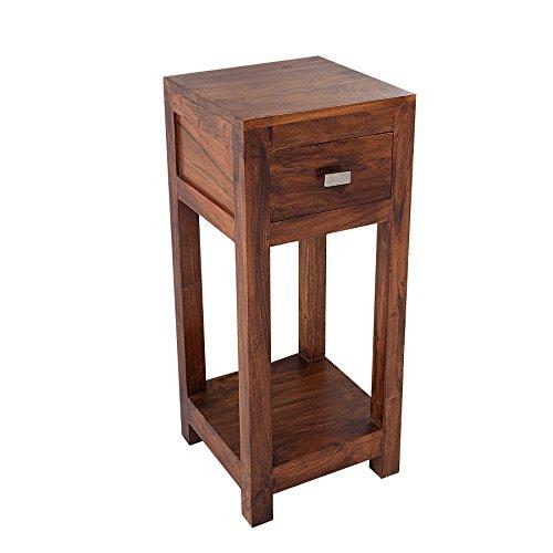Invicta Interior Massiver Beistelltisch Monsoon 70cm Telefontisch aus Akazie Tisch Holztisch Massivholz Tischchen