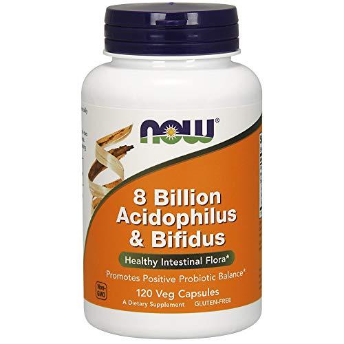 Now Foods | 8 Milliarden Acidophilus & Bifidus | 120 vegane Kapseln | glutenfrei | sojafrei