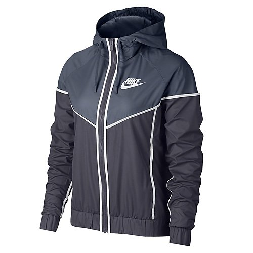 Nike Damen Sportswear Windrunner Jacke, Light Carbon/Thunder Blue/White, M