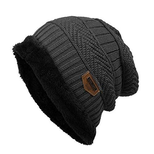 Mitlfuny Black Friay DE Cyber Monday DE,Mode Fleece Kontrast Farben gestrickte warme Winter hüte für Frauen männer