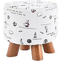 Preisvergleich für YYdy-Polsterhocker Solid Wood Small Hocker Kreative Wohnzimmer Für Schuh Hocker Mode Erwachsene Hocker Tuch Sofa Hocker Bank Niedrigen Hocker (Farbe : B)
