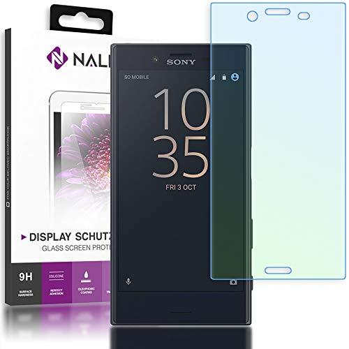 NALIA Schutzglas kompatibel mit Sony Xperia X Compact, 3D Full-Cover Displayschutz Handy-Folie, 9H Glas-Schutzfolie Bildschirm-Abdeckung, Schutz-Film HD Screen Protector Tempered Glass - Transparent