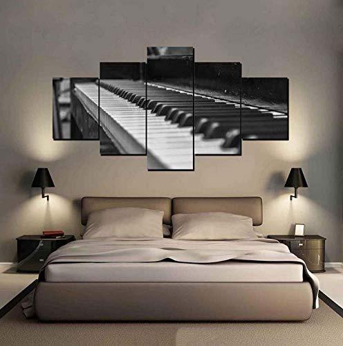 arte hd stampa decorazioni moderno pianoforte foto in bianco e nero per il muro del salotto manifesti modulare tela dipinti