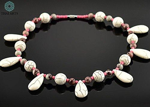 """Halskette \""""Say Fon\"""", Kette für Frauen (Korallenkette aus Handarbeit), exklusiver Schmuck mit Perlen für Frauen mit Stil. Handgefertigte Perlenkette aus Thailand"""