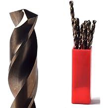 Brocas de metal PTT 1,5 mm tubo de 10 puntas mayor cobalto para taladrar trabajan más duro de lo metales aluminio cromado acero inoxidable hierro fundido larga duración fácil de usar best brocas para taladrar metal resistente se puede afilar