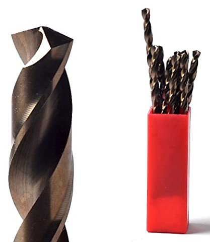 TTP HARD drill bits 5mm Tube of 10 bits added cobalt for drilling harder metals stainless steel chrome aluminium cast iron long life easy to use best drill bits for metal heavy duty can be