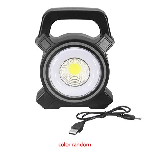 Bodbii Zufällige Farbe Kunststoff 30W Solar Power COB-Auto-Arbeits-Licht Outdoor-Camping-Licht tragbarer Lampe Akku