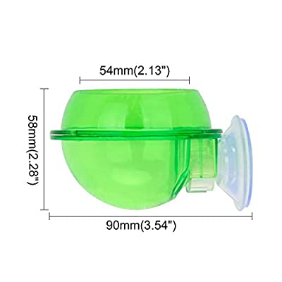 SENZEAL Reptile Bowl with Suction Cup Food Bowl for Reptiles Anti-Escape for Chameleon Snakes Gecko Tortoise Lizard from SENZEAL