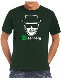 Touchlines Men's T-Shirt Heisenberg Walter White Logo (85% cotton and 15% viscose)