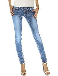 Bestyledberlin Damen Jeans Hosen, Hüftjeans j214p