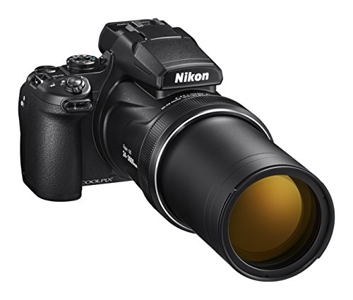 Nikon Coolpix P1000 Fotocamera Bridge, Zoom Ottico 125x, Video 4K/UHD, Bluetooth, Wi-Fi, Nero
