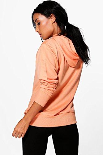 Orange Femmes Neve Fit Sweat De Course À Capuche Et Slogan Orange