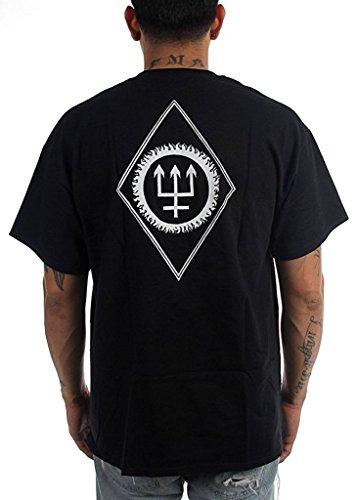Watain Mens Snake & Wolf T shirt in Black