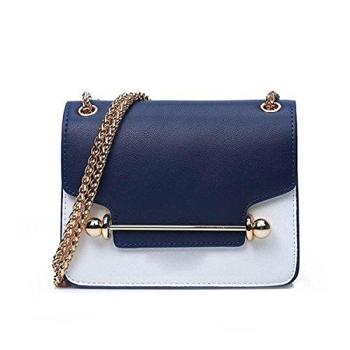 Borsa A Tracolla Della Borsa Della Borsa Catena Di Moda Bag Messenger,Blue Blue