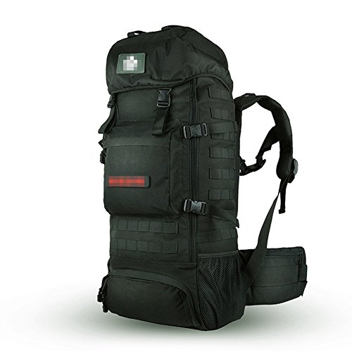 70L All'Aperto Alpinismo Zaino Walking , mud color black