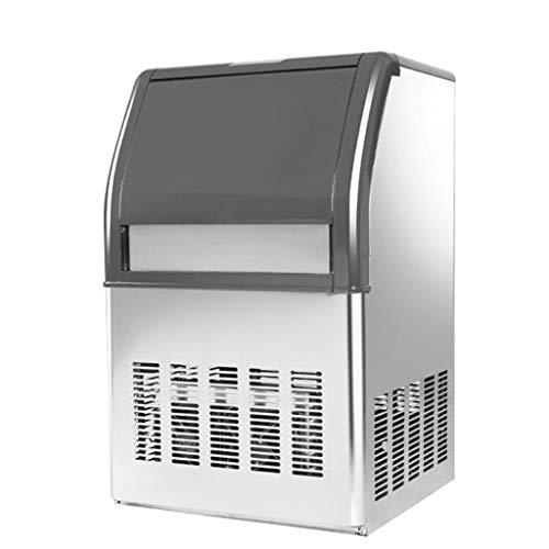 Kommerzielle Eismaschine 176LBS / 24H mit 44lbs Speicherkapazität Edelstahl Kommerzielle Eismaschine 55 Ice Cubes Per Plate Industrielle Eismaschine Maschine Auto Clean für Bar Home - Arbeitsplatte Magie