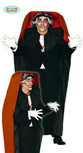 Vampir im Sarg Halloween Kostüm für Herren Gr. M/L, Größe:L