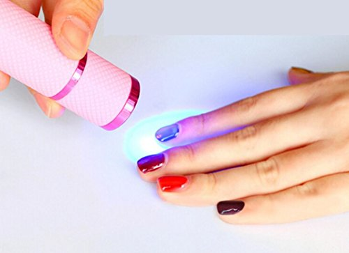 Fengh Hand-LED-Aushärtungslampe, Taschenlampe mit 9 Leuchten, für UV-/Gel-Nagellack