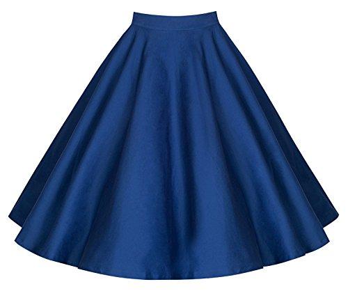 KekeHouse® Automne Skirt De Femmes Robe De Longueur Genou A-ligne Mini Robe Pour Femmes Bleu Marine