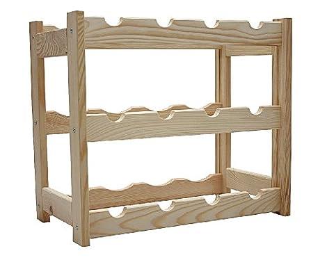 Wine Rack Wooden Shelf Bottle Shelf for 12 Bottles RW-1-12